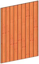 Trendhout | Binnenwand module sponningplanken B | 163x220 cm