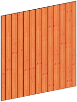Trendhout | Binnenwand module sponningplanken D | 211x220 cm