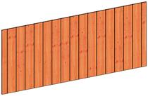 Trendhout | Wandmodule F sponningplanken | 276x117 cm