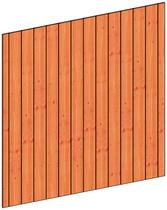 Trendhout | Binnenwand module sponningplanken H | 223x220 cm