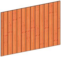 Trendhout | Binnenwand module sponningplanken K | 223x152 cm