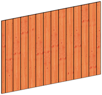 Trendhout | Wandmodule K sponningplanken | 223x156 cm