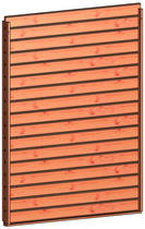 Trendhout | Wandmodule B design stapelprofiel | 163x220 cm