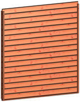 Trendhout | Wandmodule D design stapelprofiel | 211x220 cm