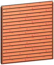 Trendhout | Wandmodule H design stapelprofiel | 223x220 cm