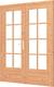Trendhout | Stapeldorpeldeur dubbel met kozijn | Wit
