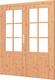 Trendhout | Paneeldeur dubbel met kozijn | Onbehandeld