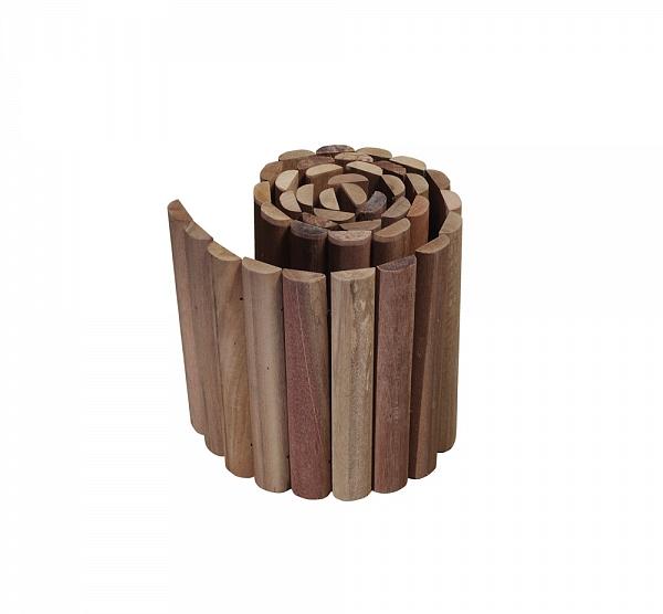 Dezehardhouten rolborder 20 x 180, is ideaal voor het opvangen van hoogteverschil (tot max. 20 cm) in uw ...