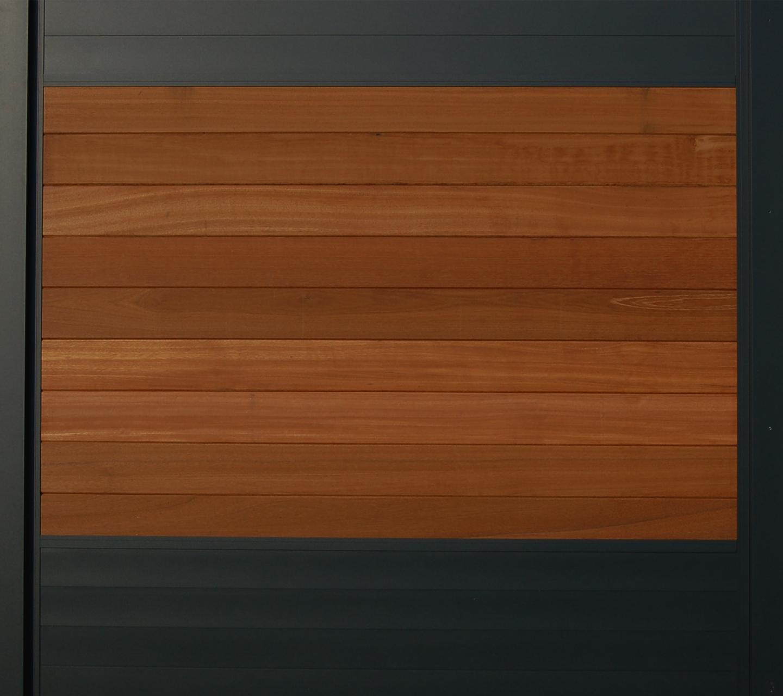 IdeAL scherm | Zilver- Bangkirai | 180x180 | 9 planks