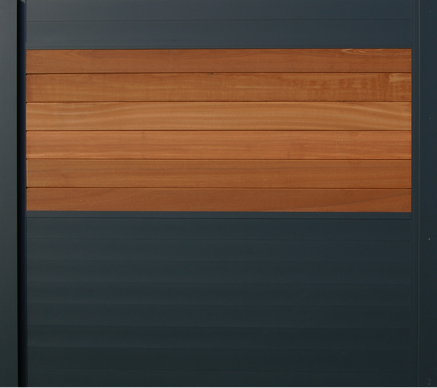 IdeAL scherm | Antraciet- Bangkirai | 180x180 | 6 planks