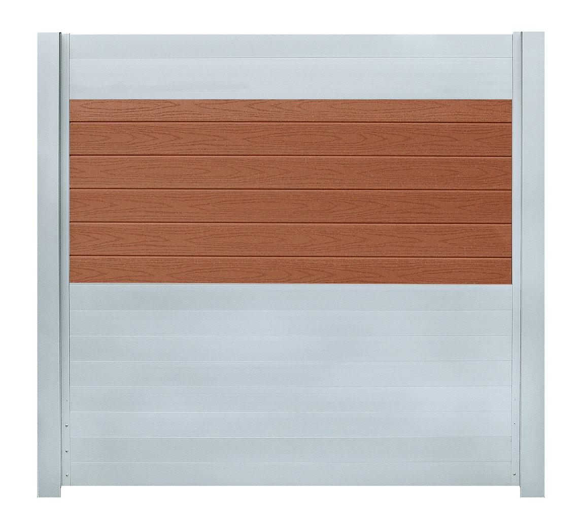 IdeAL scherm | Zilver- Bangkirai | 180x200 | 6 planks