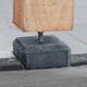 Betonpoer met facetrand | 14 x 14 cm voor paal 10-12 cm | Inclusief stelplaat