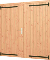 Trendhout | Opgeklampte deur dubbel | Onbehandeld