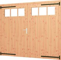 Trendhout | Opgeklampte deur XL dubbel met bovenraam | Onbehandeld
