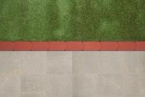 Redsun | Graskantsteen 22x12x4.5 | Rood