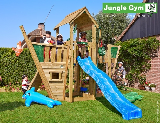 Jungle Gym | Mansion + Boat Module  | DeLuxe | Blauw