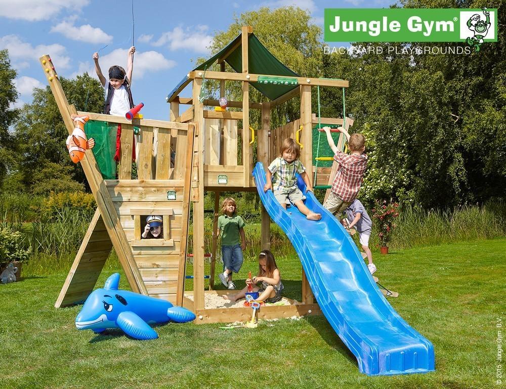 Jungle Gym   Lodge + Boat Module   DeLuxe   Donkergroen