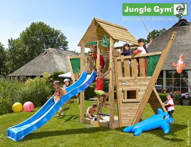 Jungle Gym | Cabin + Boat Module | DeLuxe | Blauw