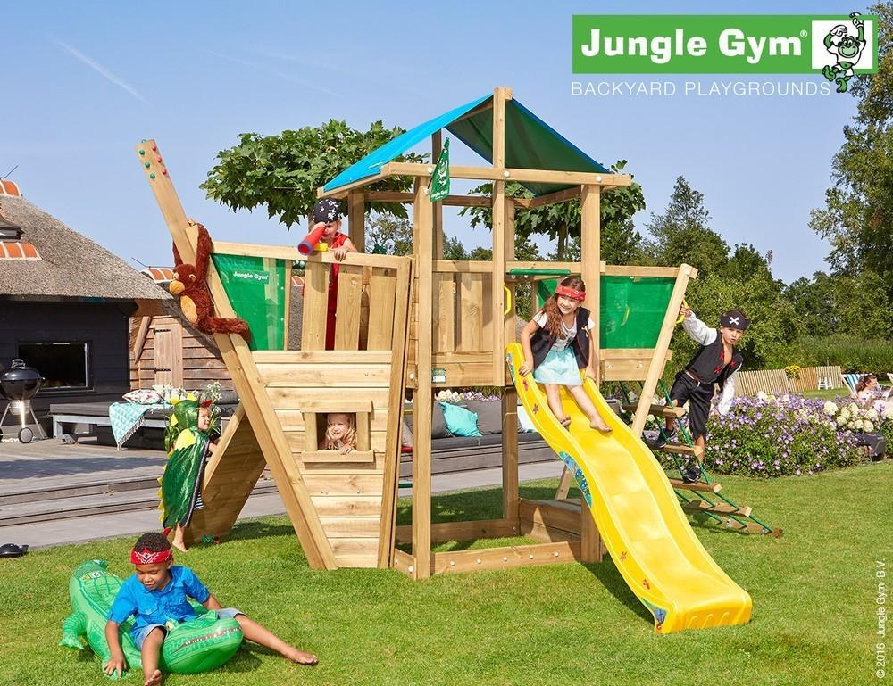 Jungle Gym | Hut + Boat Module | DeLuxe | Geel
