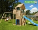 Jungle Gym | Palace + Playhouse + 2 Swing | DeLuxe | Blauw