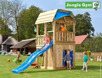 Jungle Gym | Barn + Playhouse | DeLuxe | Blauw