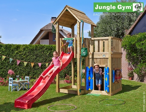 Jungle Gym | Mansion + Playhouse | DeLuxe | Blauw