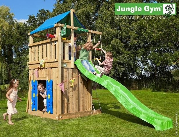 Jungle Gym | Lodge + Playhouse | DeLuxe | Blauw