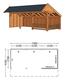 Trendhout | Kapschuur De Stee L 7400 | Combinatie 3