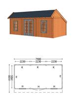 Trendhout | Kapschuur De Stee L 7400 | Combinatie 6