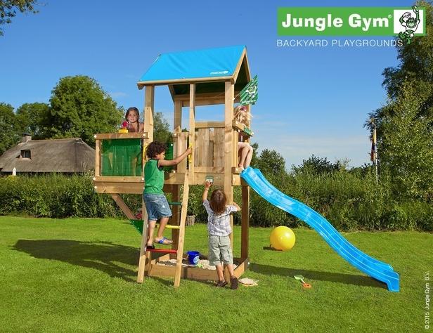 Jungle Gym | Castle + Balcony | DeLuxe | Blauw