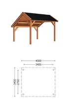 Trendhout | Kapschuur De Deel 4000 mm | Combinatie 1