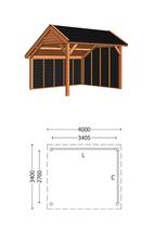 Trendhout | Kapschuur De Deel 4000 mm | Combinatie 2