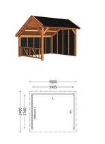 Trendhout | Kapschuur De Deel 4000 mm | Combinatie 3