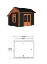 Trendhout | Kapschuur De Deel 4000 mm | Combinatie 6