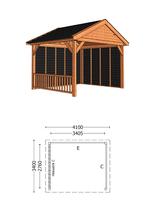 Trendhout | Buitenverblijf Zadeldak Olea 4100 mm | Combinatie 3