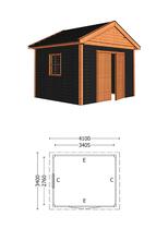 Trendhout | Buitenverblijf Zadeldak Olea 4100 mm | Combinatie 5