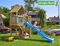 Jungle Gym | Cubby + Balcony | DeLuxe | Blauw