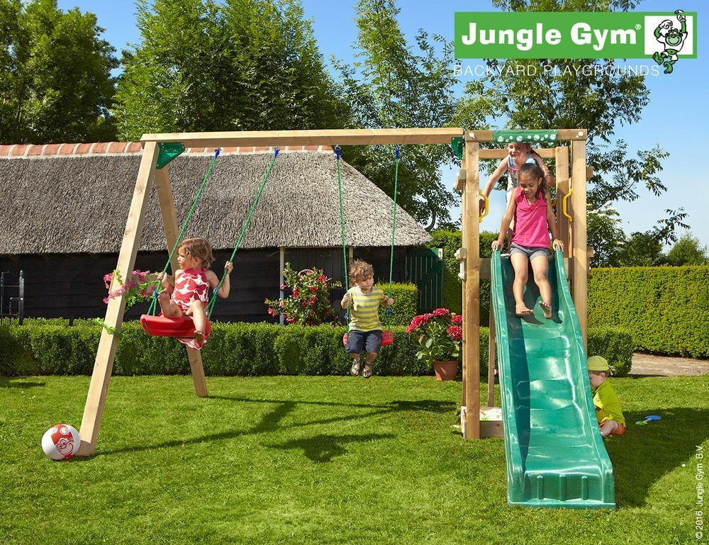 Jungle Gym | Tower + 2-Swing X'tra | DeLuxe | Rood