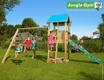 Jungle Gym | Castle + 2-Swing X'tra | DeLuxe | Blauw