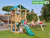 Jungle Gym | Hut + 2-Swing X'tra | DeLuxe | Blauw