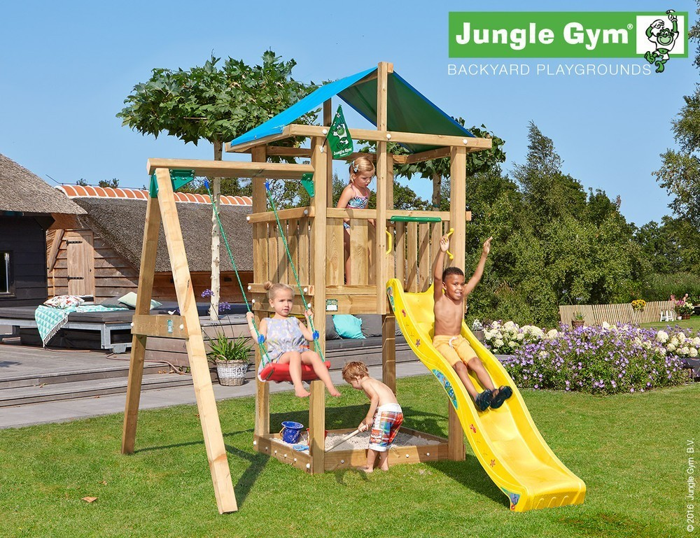 Jungle Gym | Hut + 1-Swing X'tra | DeLuxe | Geel