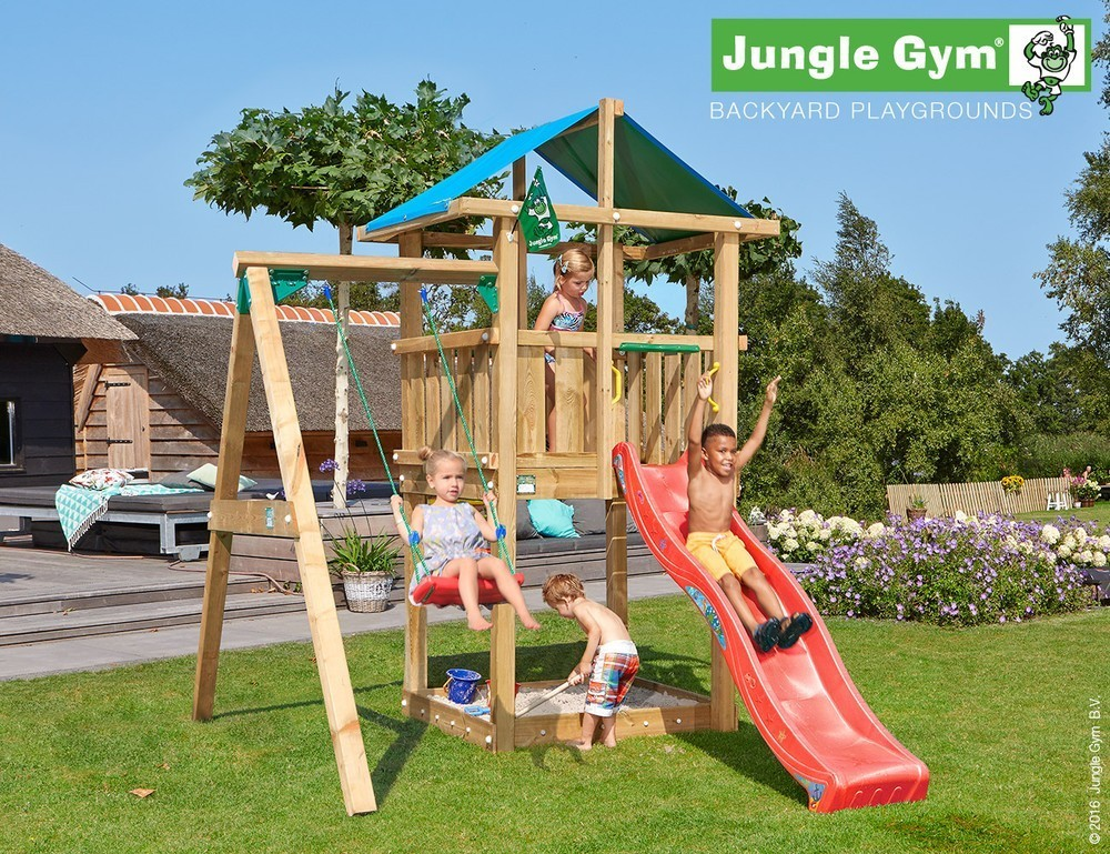 Jungle Gym | Hut + 1-Swing X'tra | DeLuxe | Rood