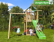 Jungle Gym | Lodge + 1-Swing X'tra | DeLuxe | Blauw