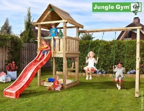 Jungle Gym | House + 2-Swing X'tra | DeLuxe | Blauw