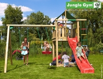 Jungle Gym | Lodge + 2-Swing X'tra | DeLuxe | Blauw