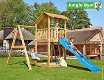 Jungle Gym | Shelter + 1-Swing X'tra | DeLuxe | Blauw