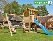 Jungle Gym | Shelter + 2-Swing X'tra | DeLuxe | Blauw