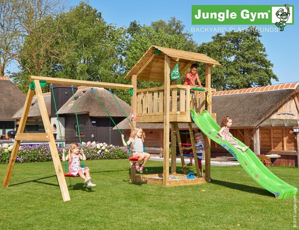 Jungle Gym | Shelter + 2-Swing X'tra | DeLuxe | Lichtgroen