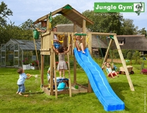 Jungle Gym | Chalet + 1-Swing X'tra | DeLuxe | Blauw