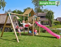 Jungle Gym | Cubby + 2-Swing X'tra | DeLuxe | Blauw
